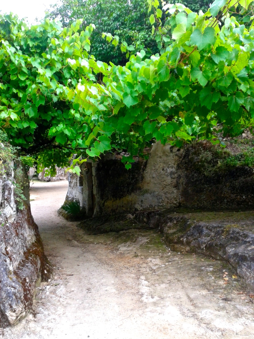 The entrance to the troglodyte village L'Orbière